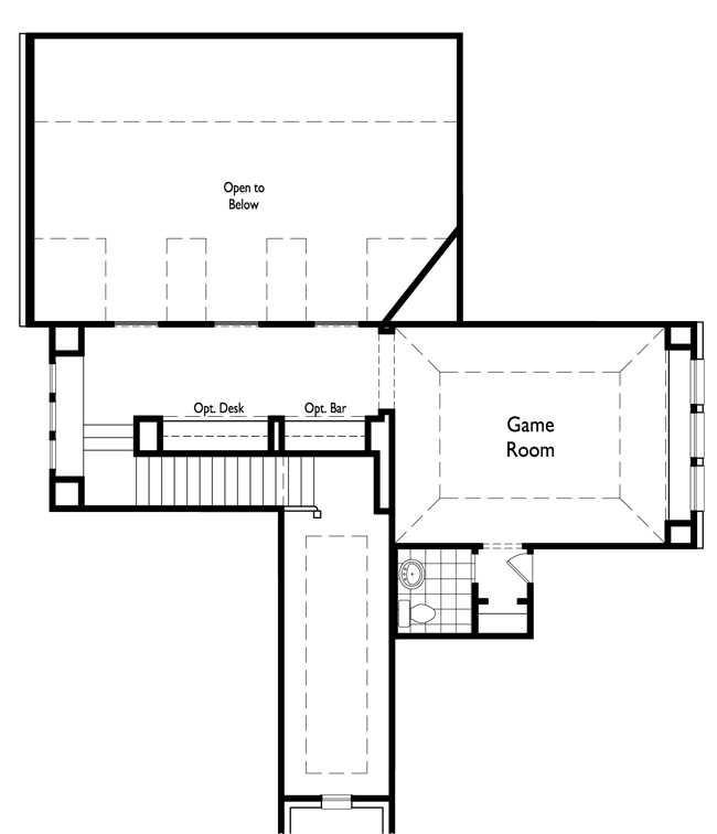 Optional Game Room w/ Powder Bath (Upstairs)