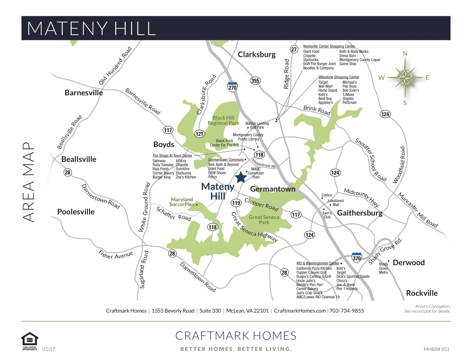 Mateny Hill by Craftmark Homes - Area Map