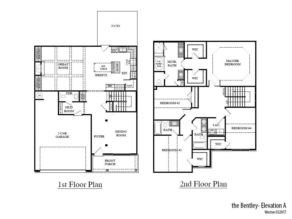 Weston Bentleya Floorplan