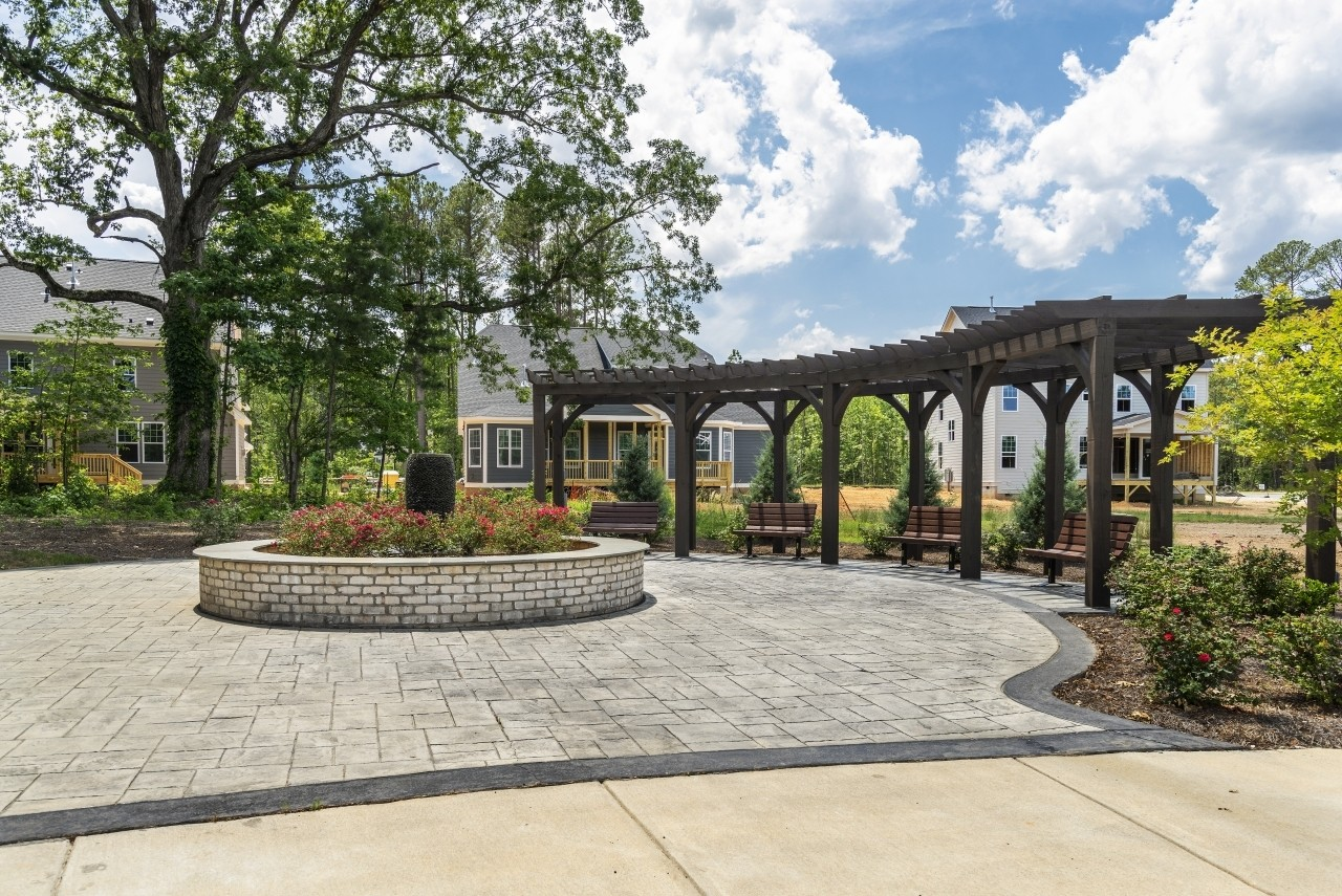 Fairview Park, Cary, Royal Oaks a Division of Mattamy Homes, Wooded Gathering Area, Pergola
