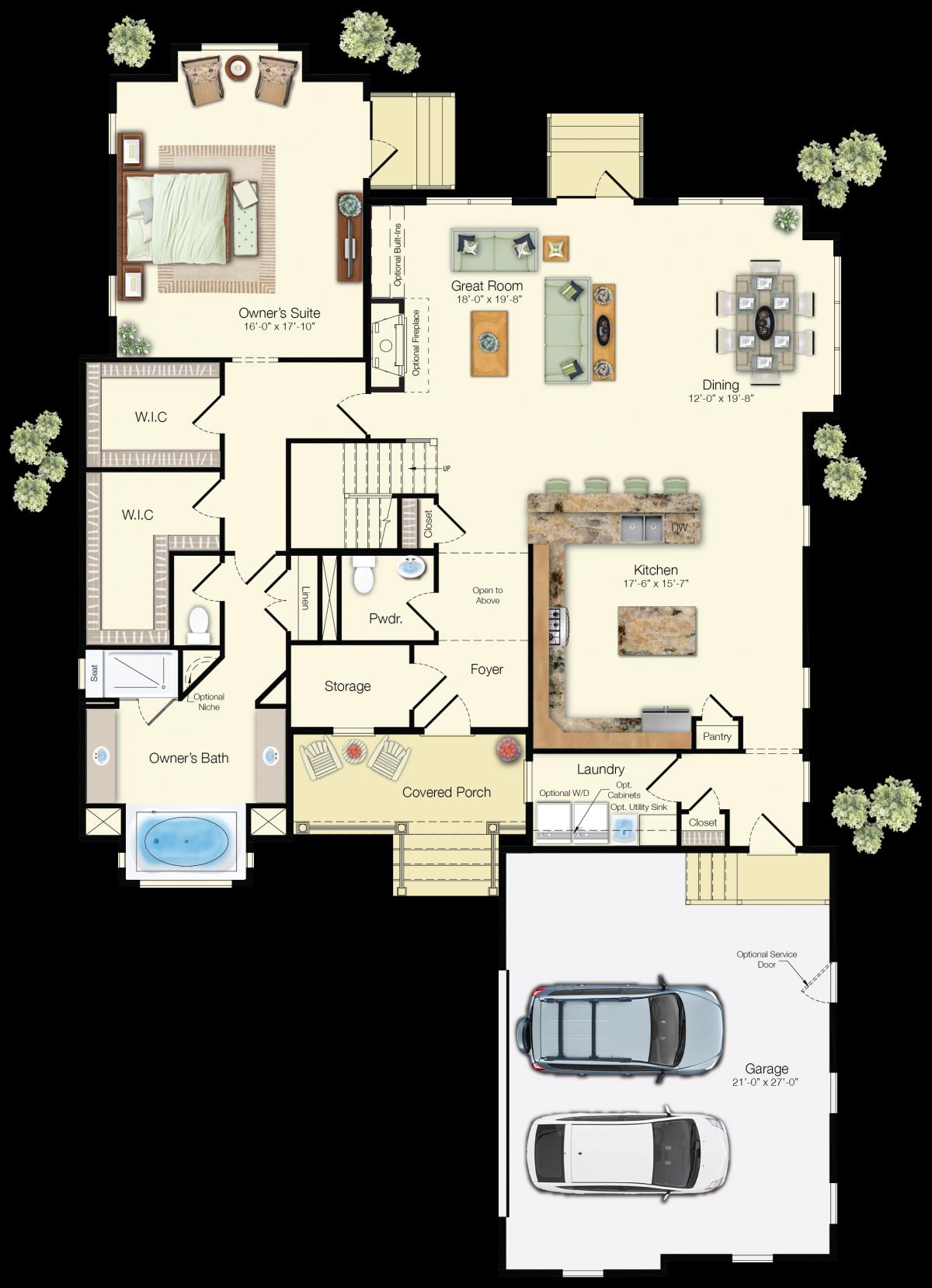 The Kiawah - First Floor