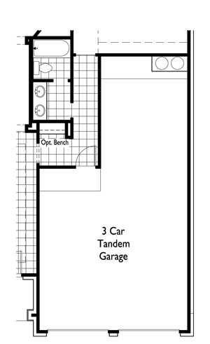 Optional 3.5 Car Tandem Garage