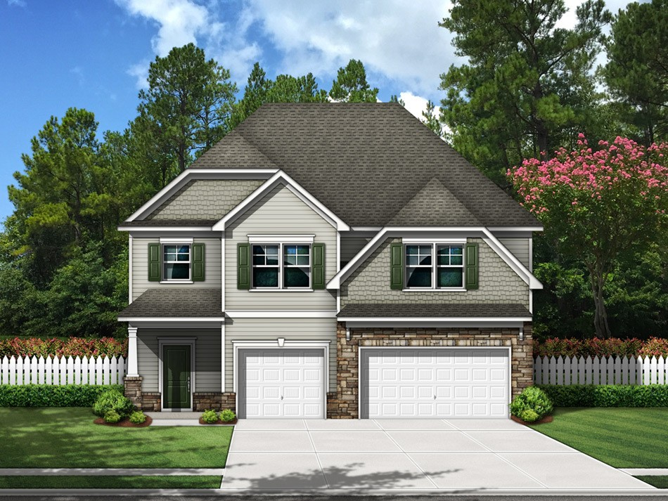 Summerville Elevation B (vinyl with stone accent)