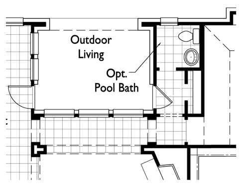 Optional Pool Bath