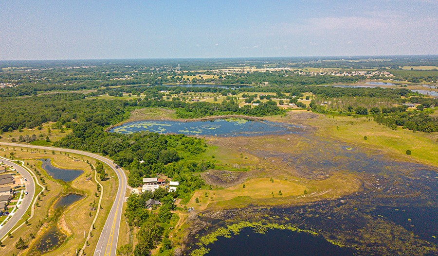 ThePreserveAtSunrise-ORL-Aerial of Lake 2