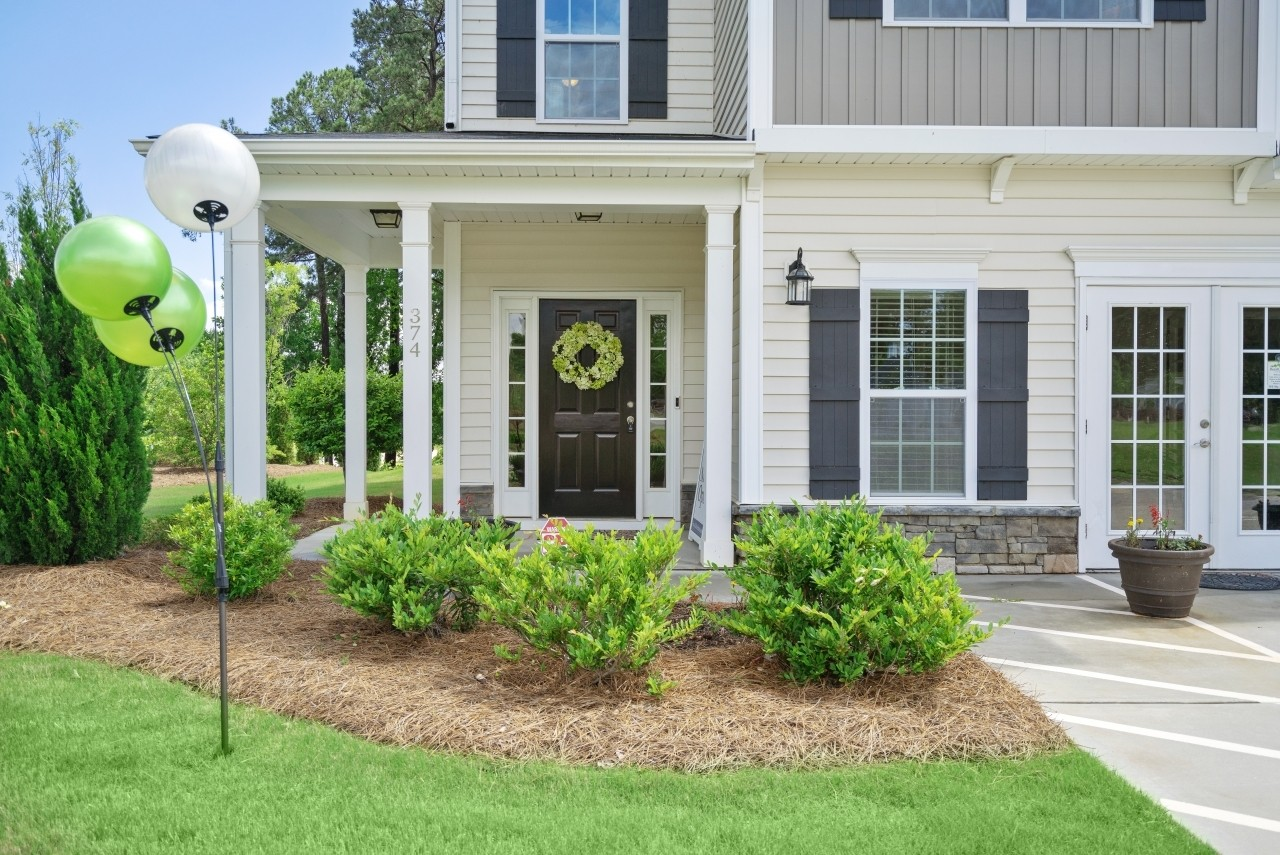 The Wilmington, Model Home, Clayton NC, New Homes in Clayton NC, Bristol, Front Porch, Landscapin...