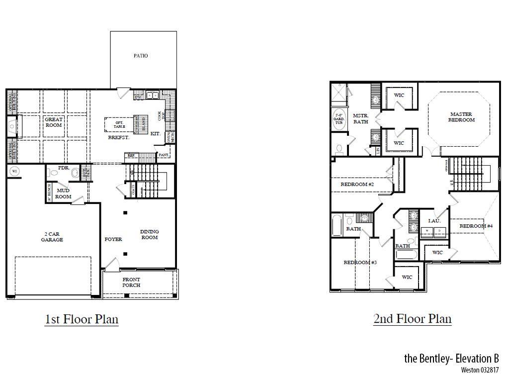 Weston Bentleyb Floorplan