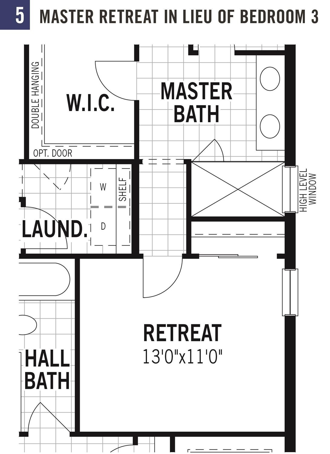 Master retreat in lieu of bedroom 3