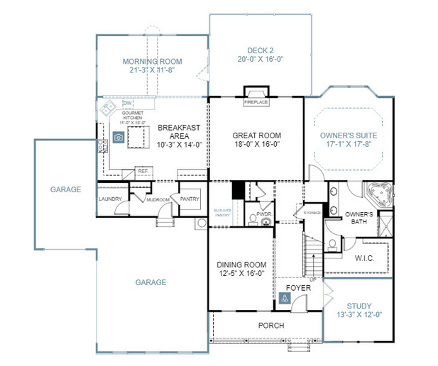 New Home Plans The Sutton Ii By Stanley Martin Homes New Homes Guide