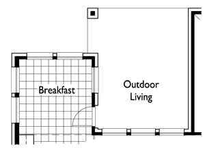 Optional Extended Outdoor Living