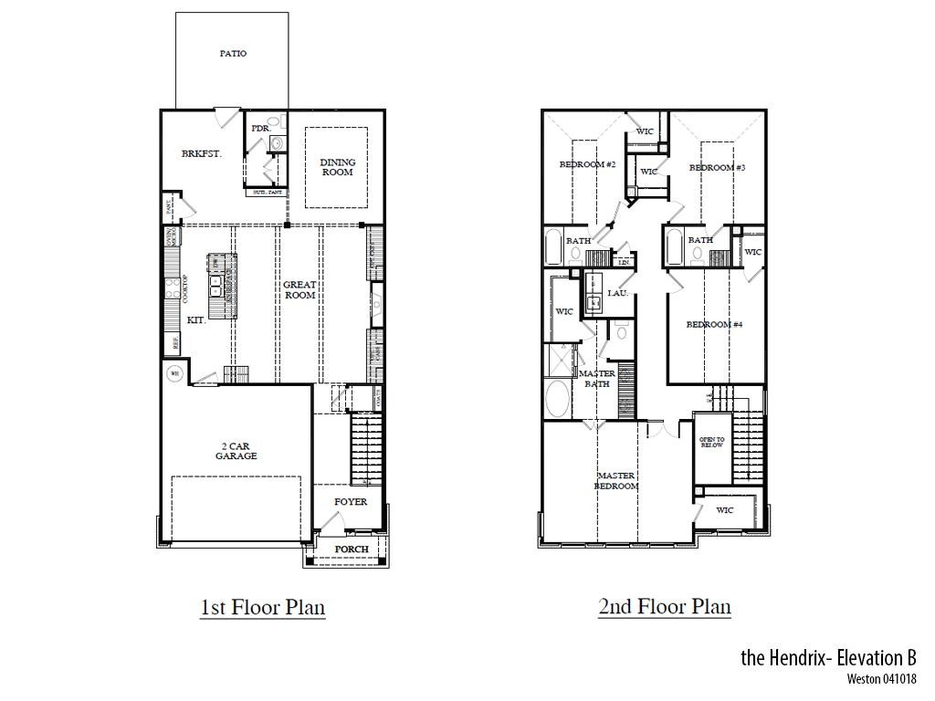 Weston Hendrixb Floorplan