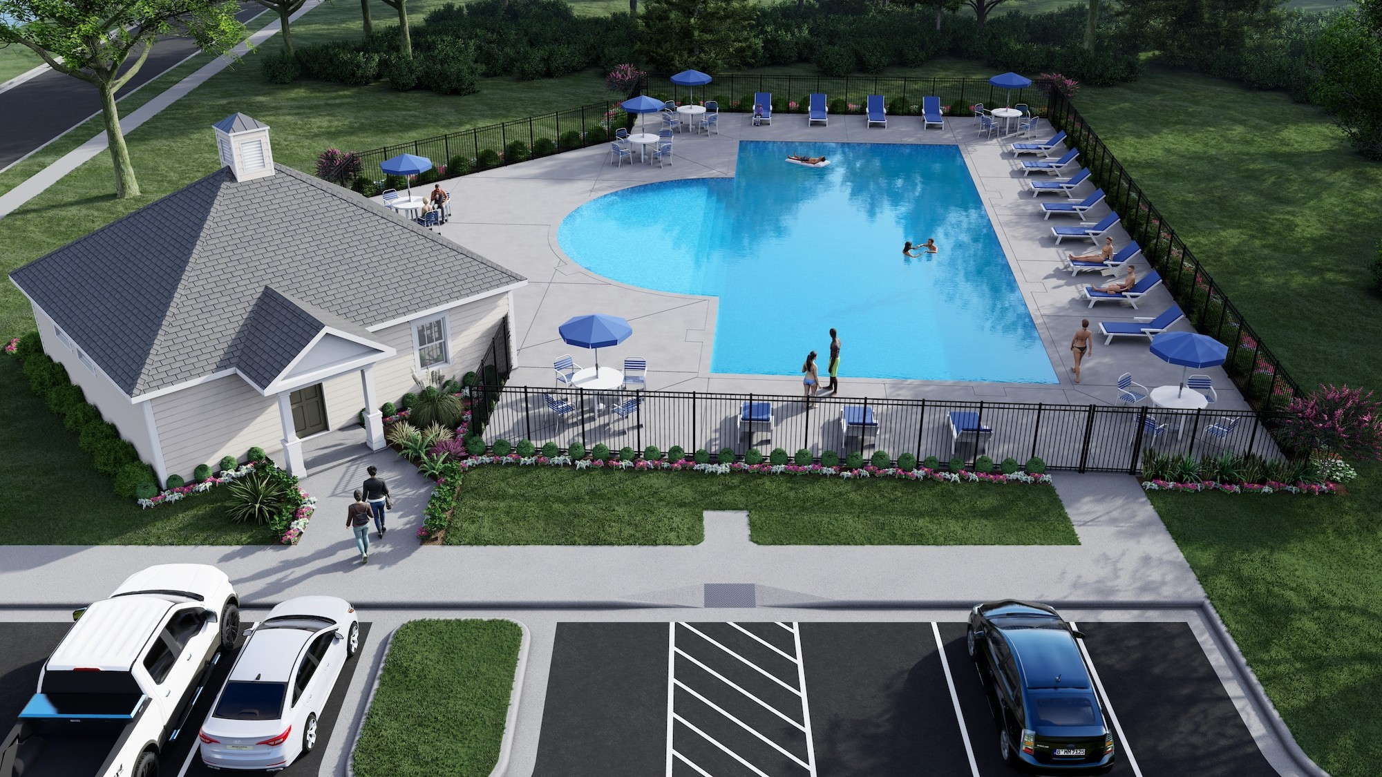Bent Tree Community Pool Rendering