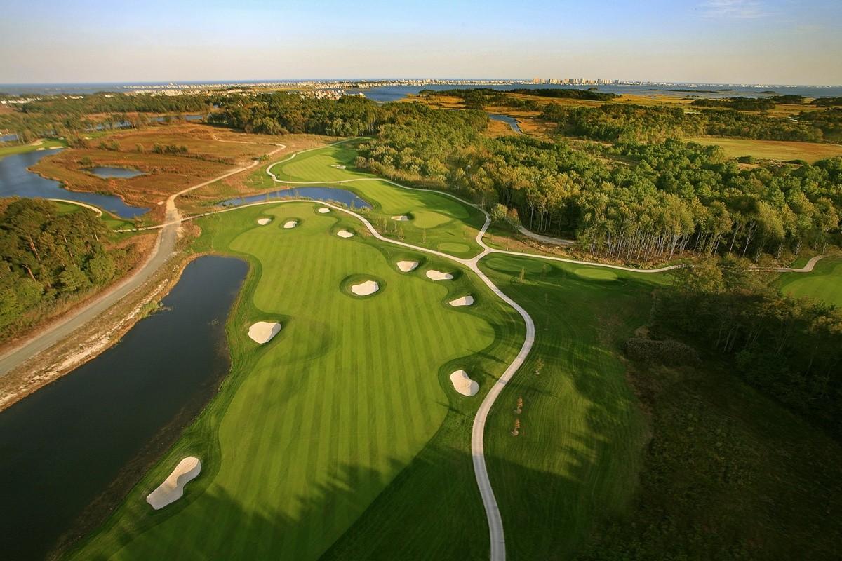 Bayside Resort Golf Club 1st Hole Aerial