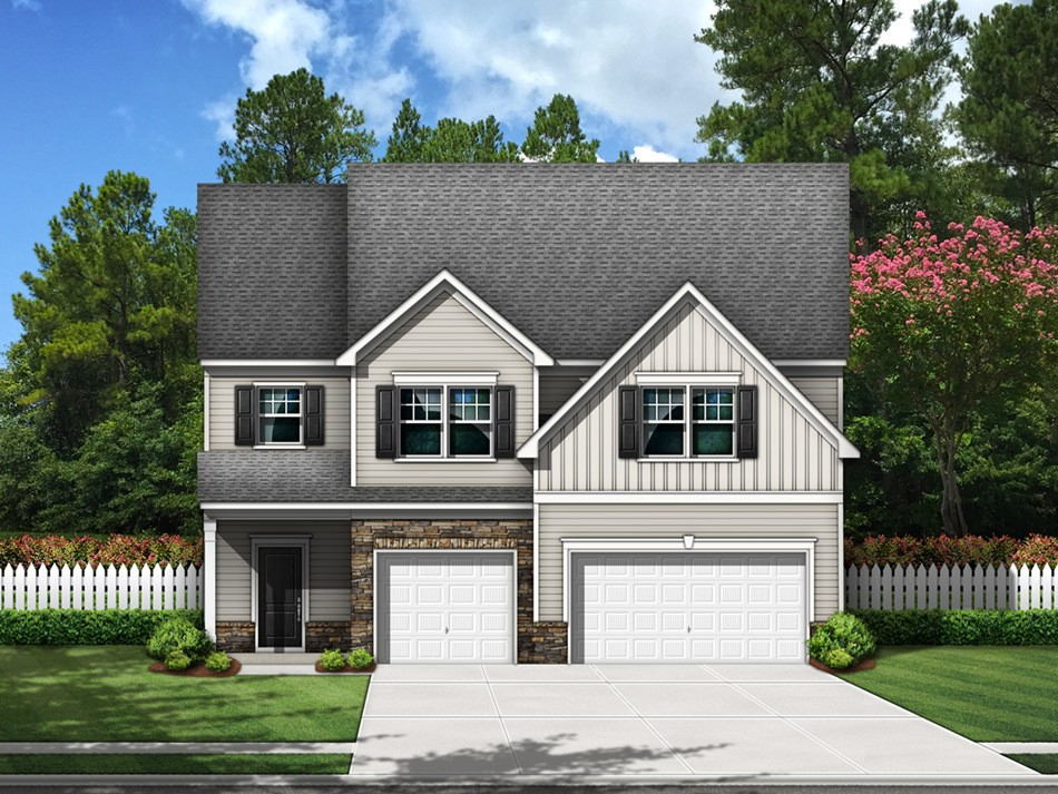 Summerville Elevation A (vinyl with stone accent)