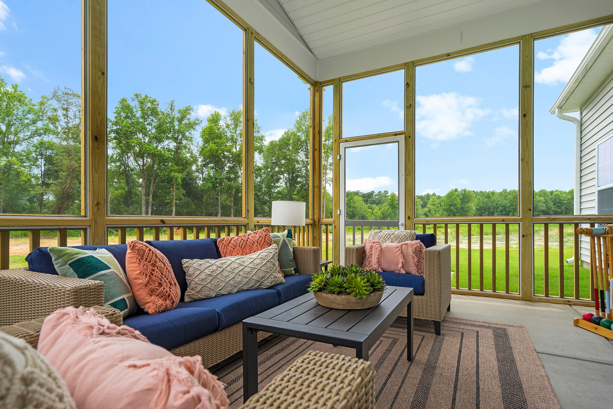 large screened porch, outdoor living