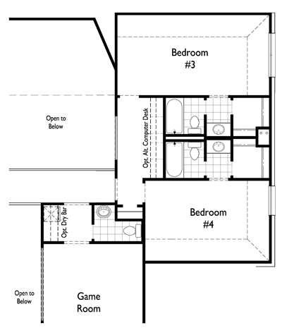 Optional Expanded Bedrooms 3&4 w/ full baths