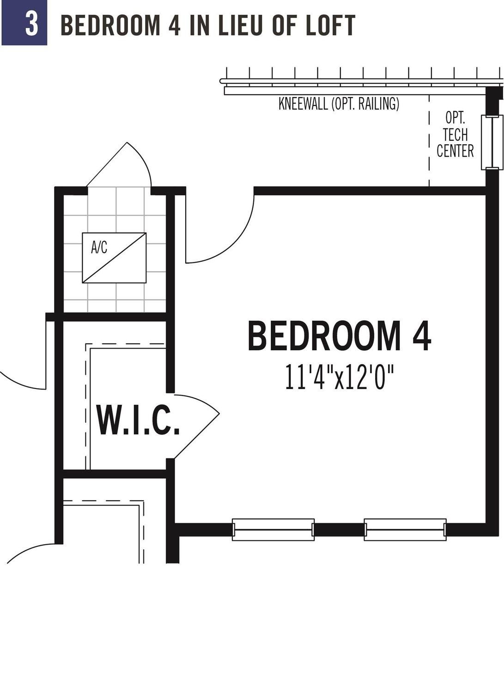Bedroom 4 in lieu of loft
