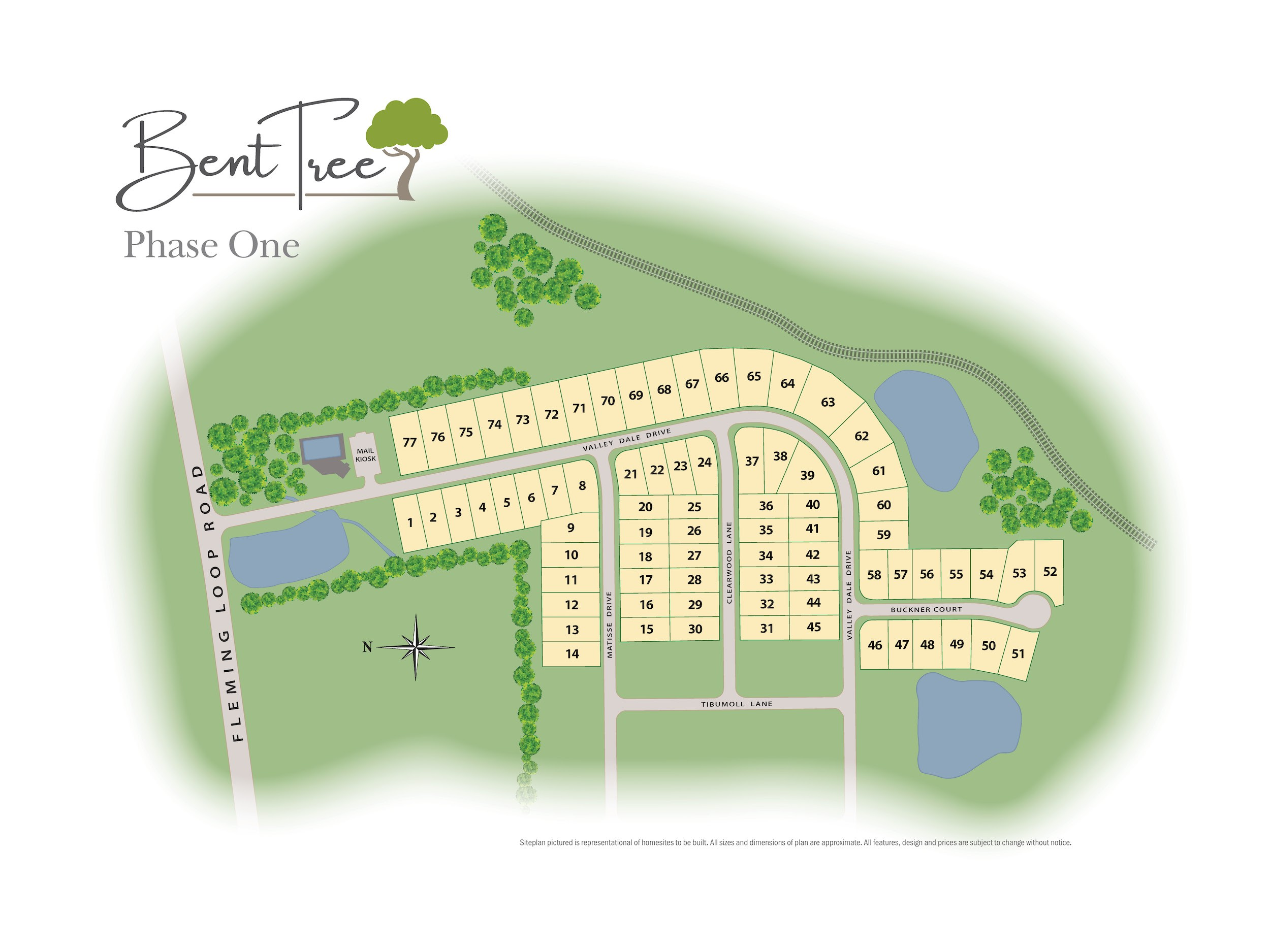 Bent Tree Lot Map
