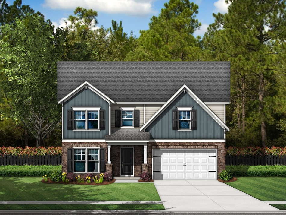 Cooper Elevation D (vinyl with stone accent)