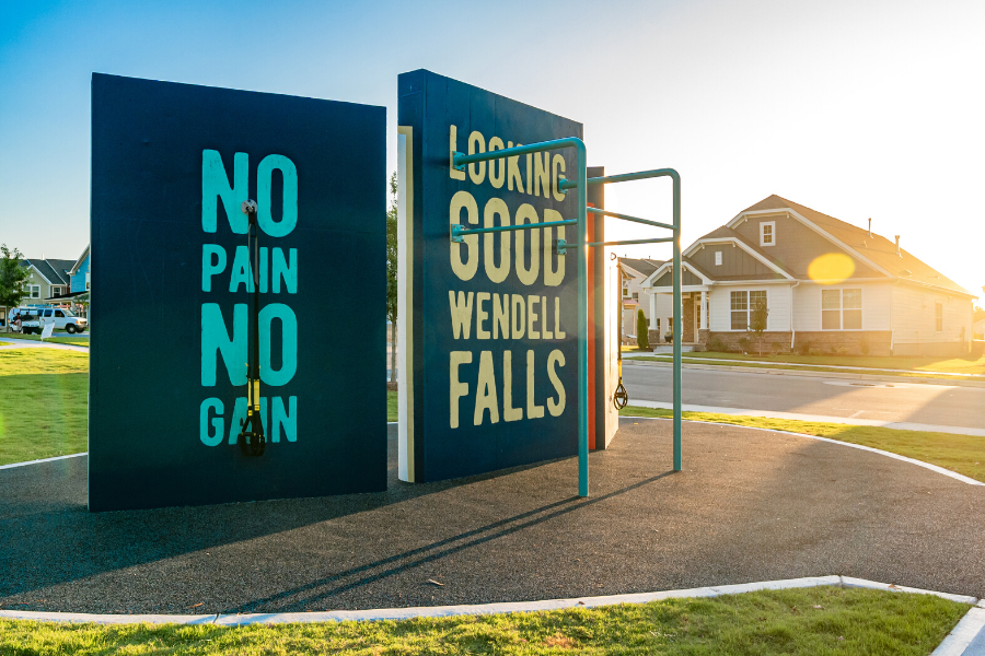 Outdoor Workout Space at Wendell Falls - The Grove