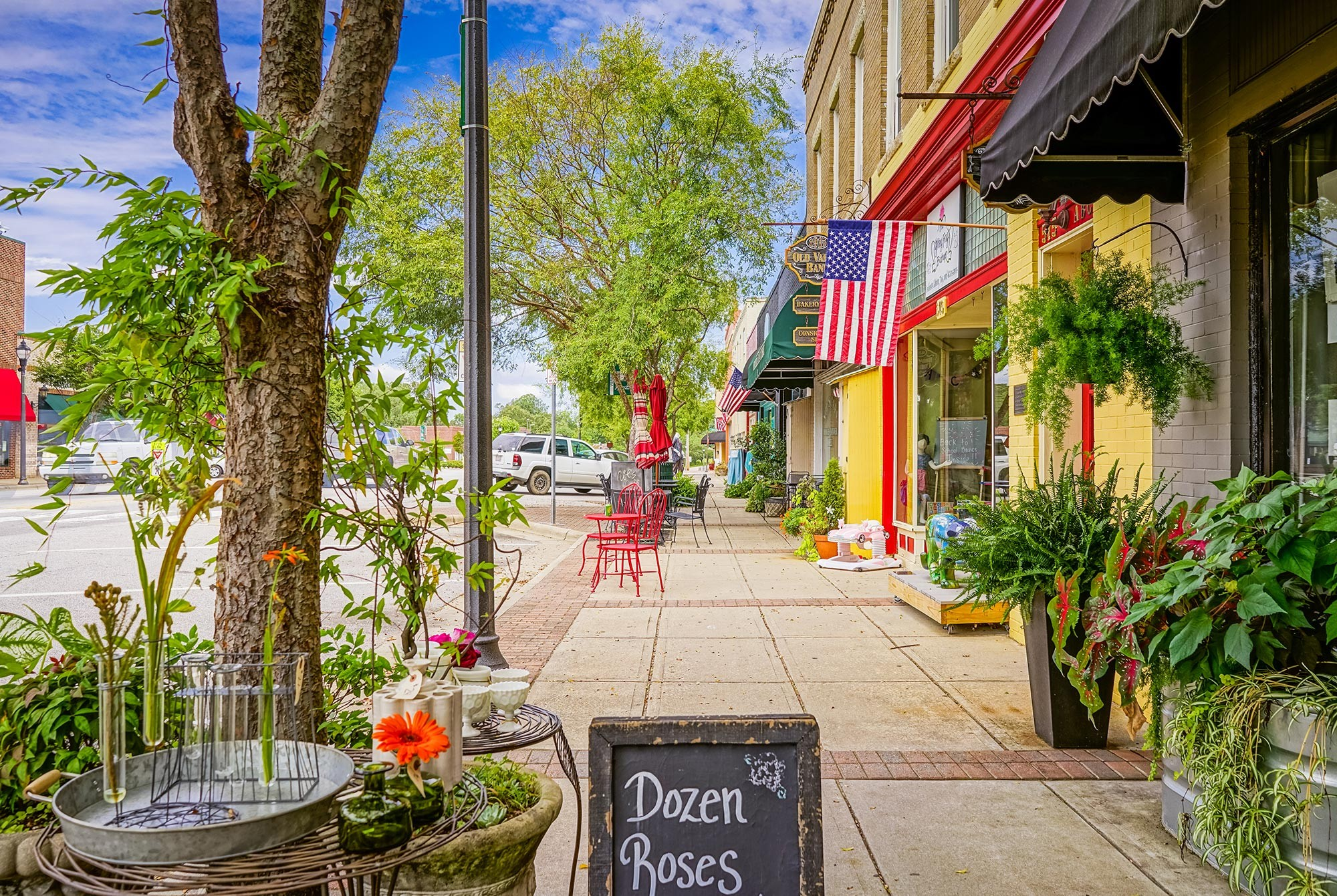 Charming downtown Fuquay-Varina, just miles from Bent Tree
