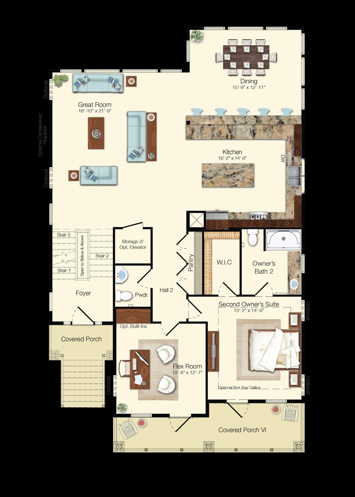 The Antigua - Second Floor