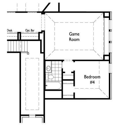 Optional Game Room w/ Bedroom 4 (Upstairs)