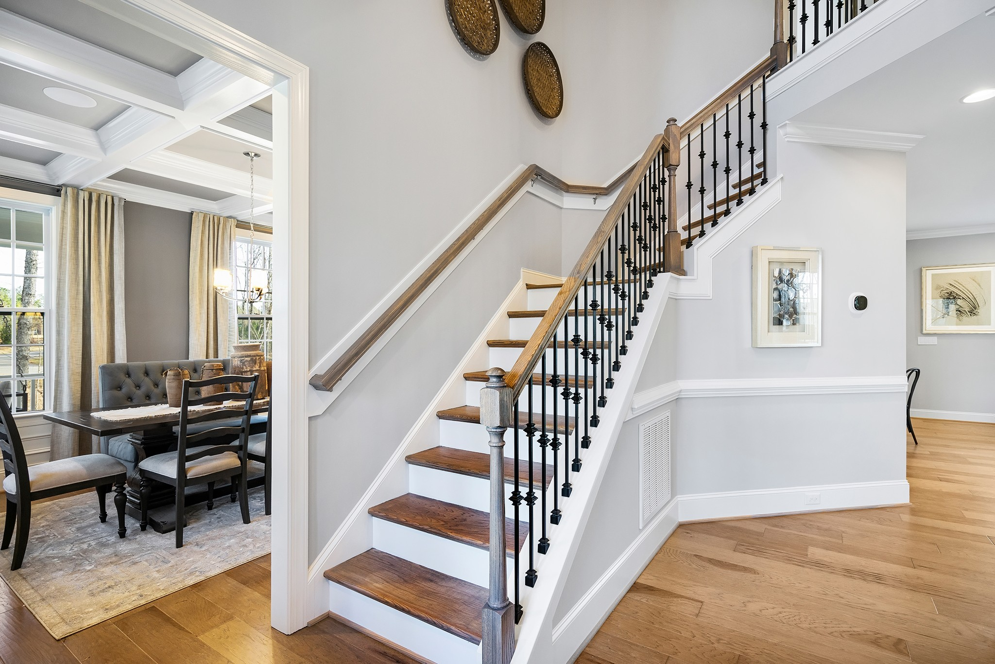 Ballentine Place, The Edenton Model, Royal Oaks a Division of Mattamy Homes, Two Story Foyer