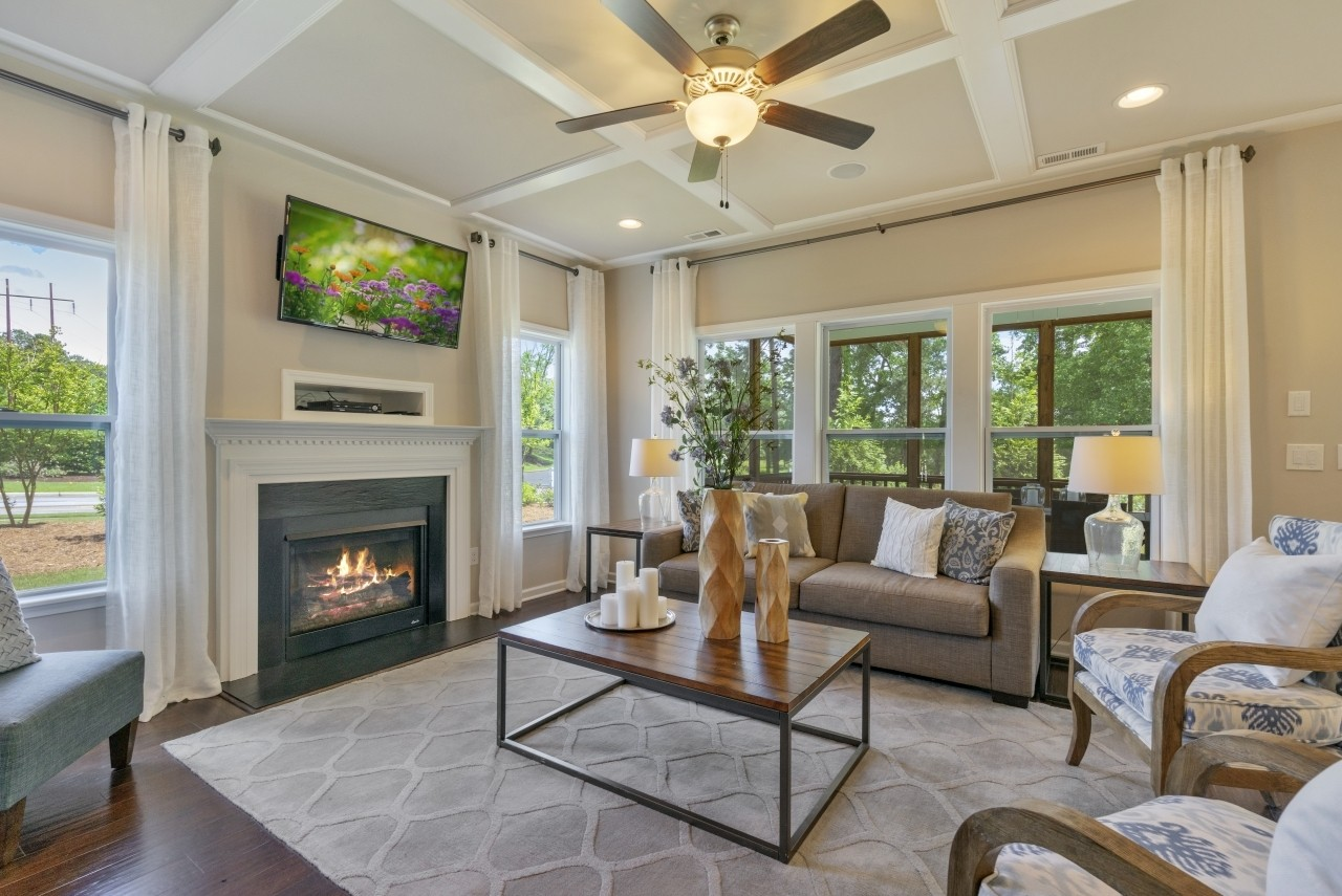 Wilmington, model home, Bristol, Clayton NC, Royal Oaks a Division of Mattamy Homes, Family Room,...