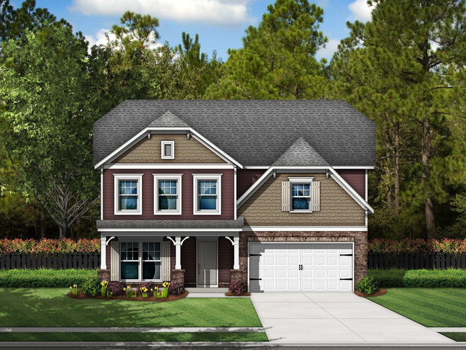 Cooper Elevation F (vinyl with stone accent)