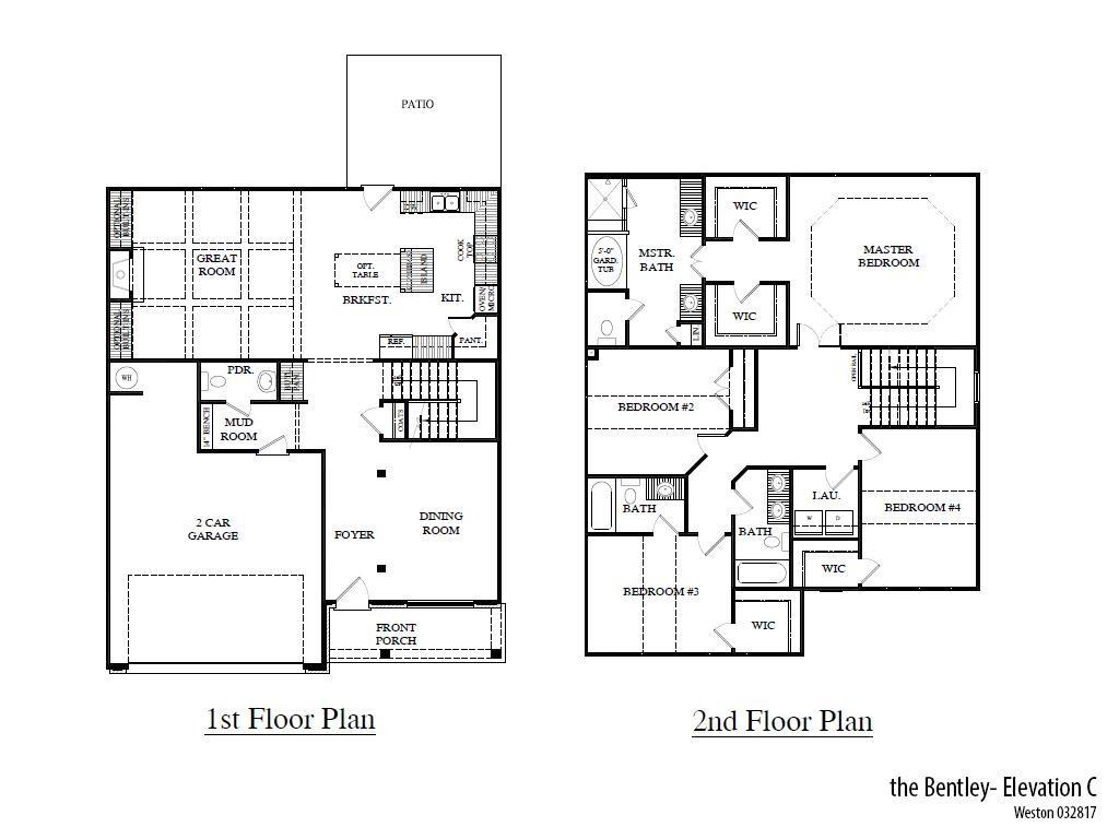 Weston Bentleyc Floorplan