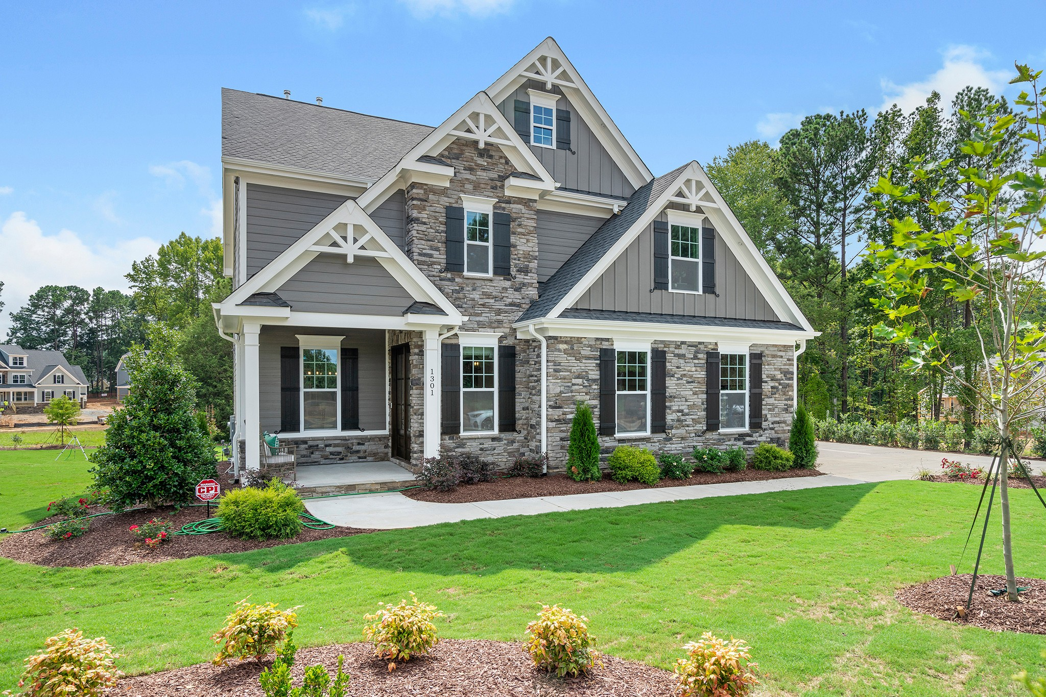 The Monroe Model Home in Fairview Park Cary NC