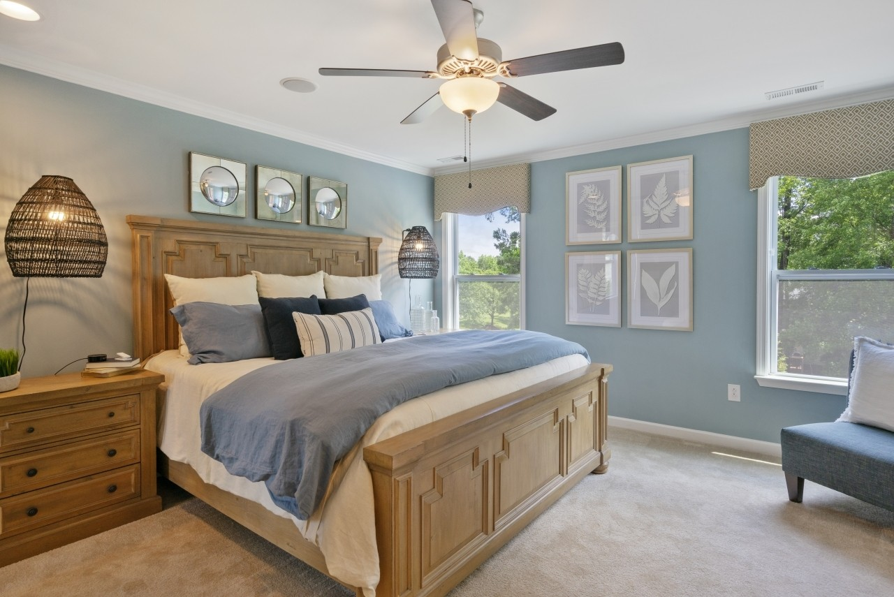 The Wilmington, Model Home, Bristol, Clayton NC, New Homes in Clayton NC, Owner's Suite, Master B...