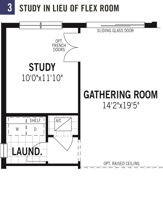 Study in lieu of flex room