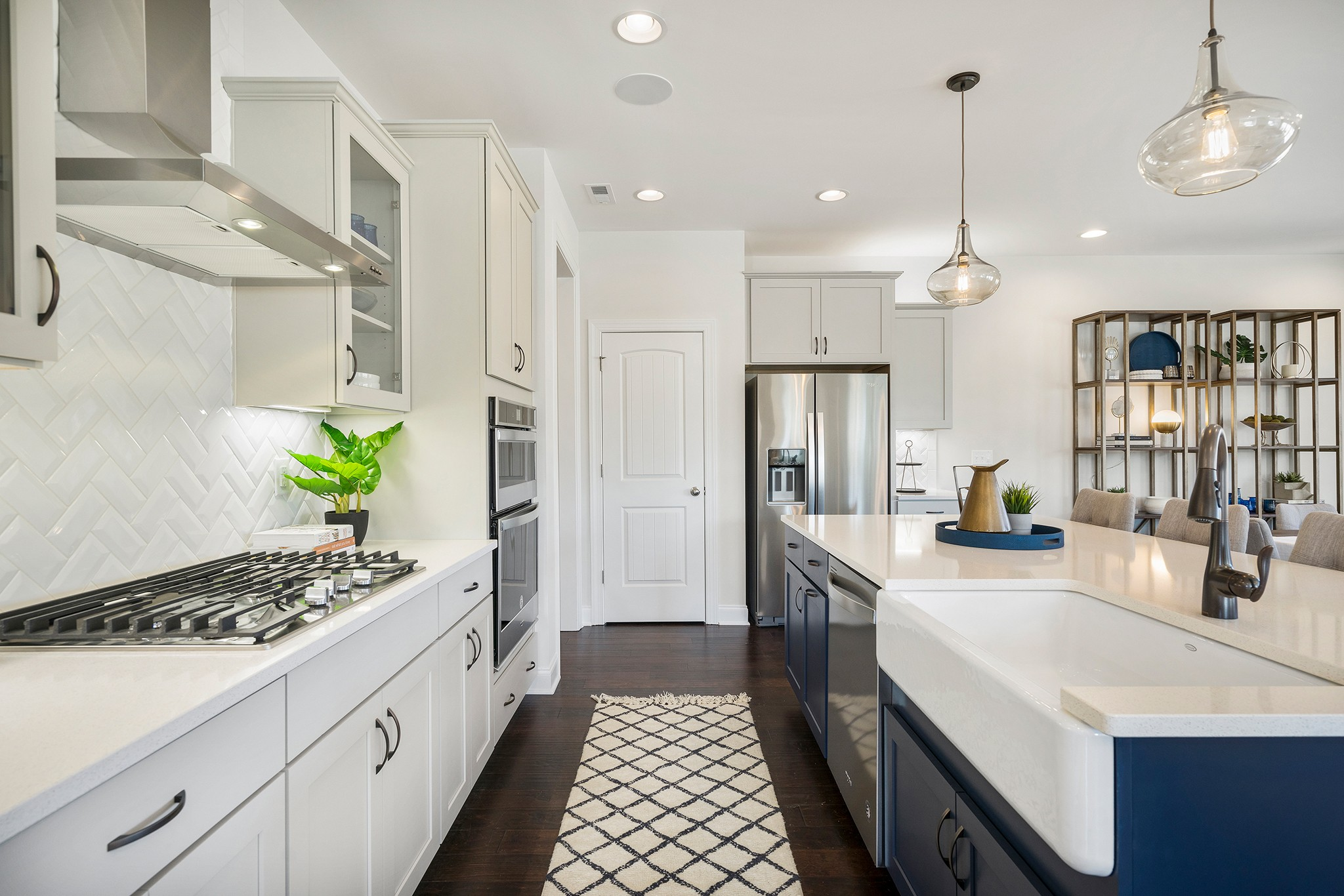 Royal Oaks a Division of Mattamy Homes, Holland Station, Fuquay-Varina, Kitchen with Island, Gorg...