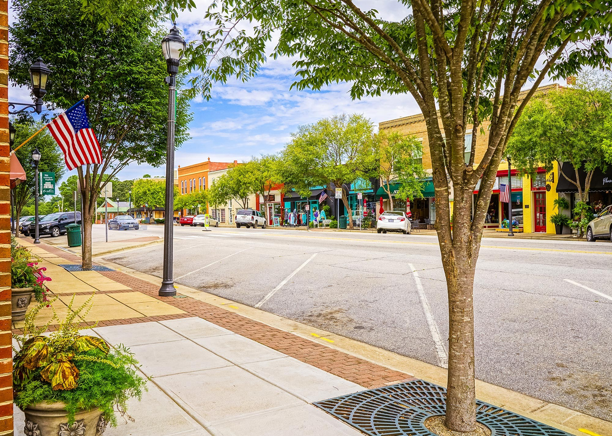 Downtown shops and restaurants in Fuquay-Varina, NC - Bent Tree