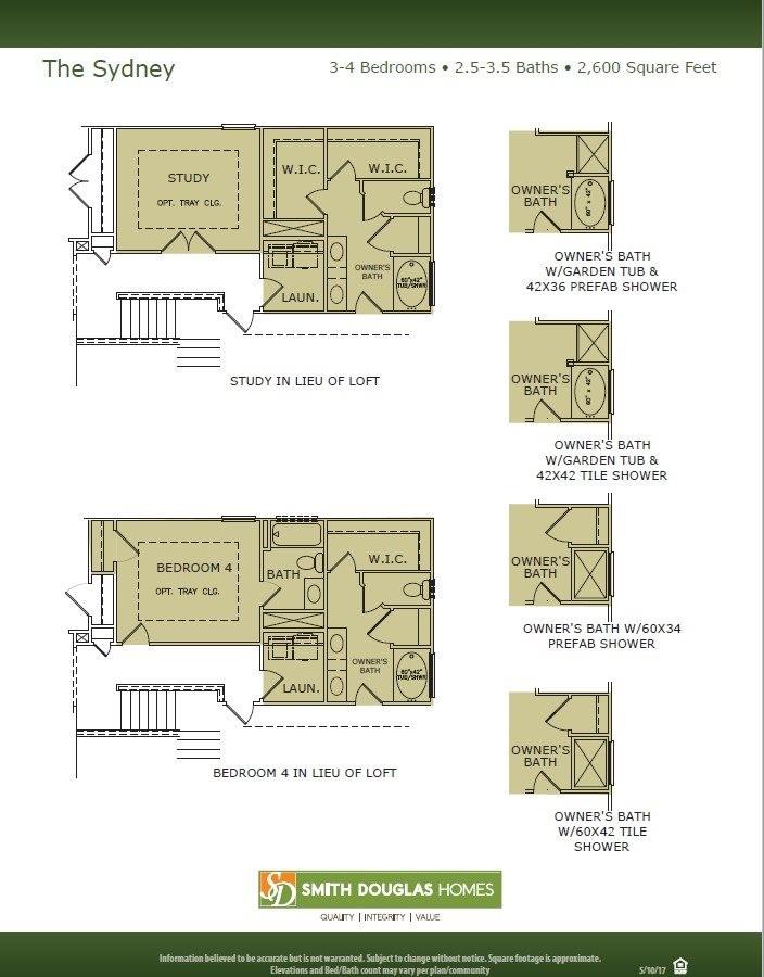 Sydney Floorplan Options
