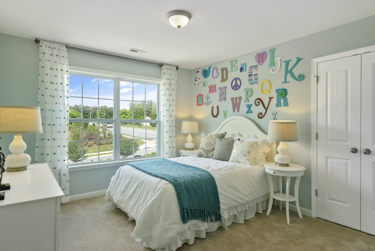 The Wilmington, Model Home, Clayton NC, Bristol, New Homes in Clayton NC, Bedroom, Secondary Bedr...