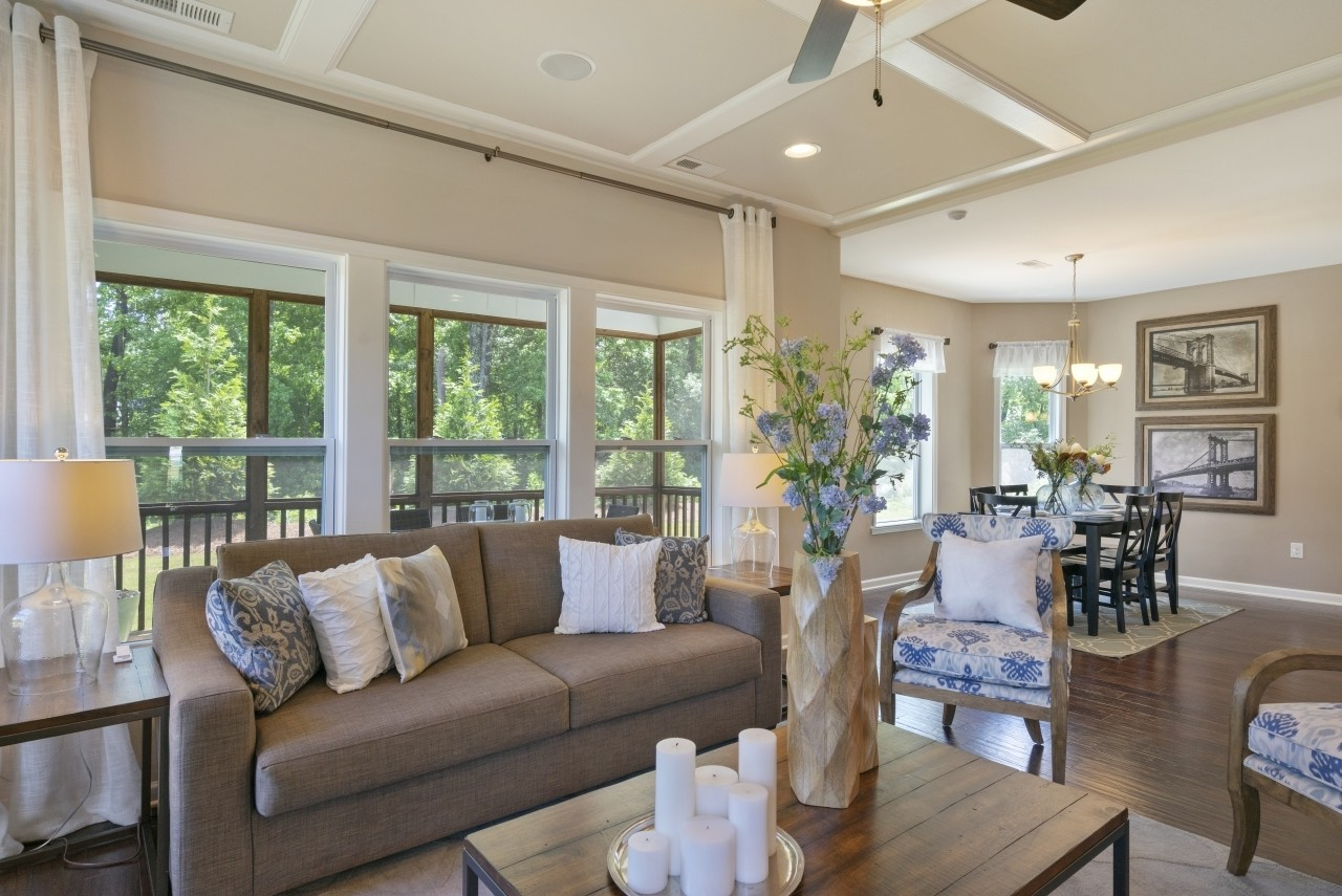 The Wilmington, model home, Clayton NC, New Homes in Clayton NC, Bristol, Living Room, Great Room...