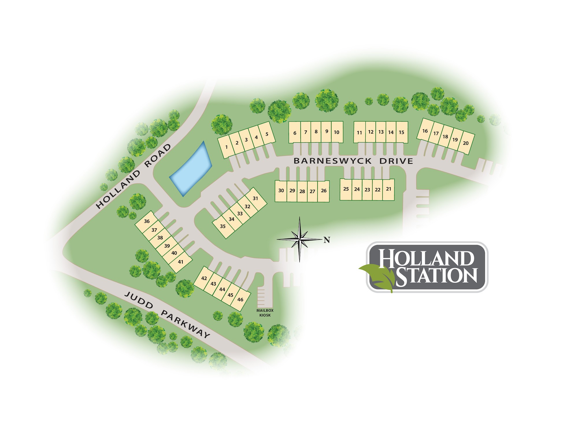 Holland Station Lot Map
