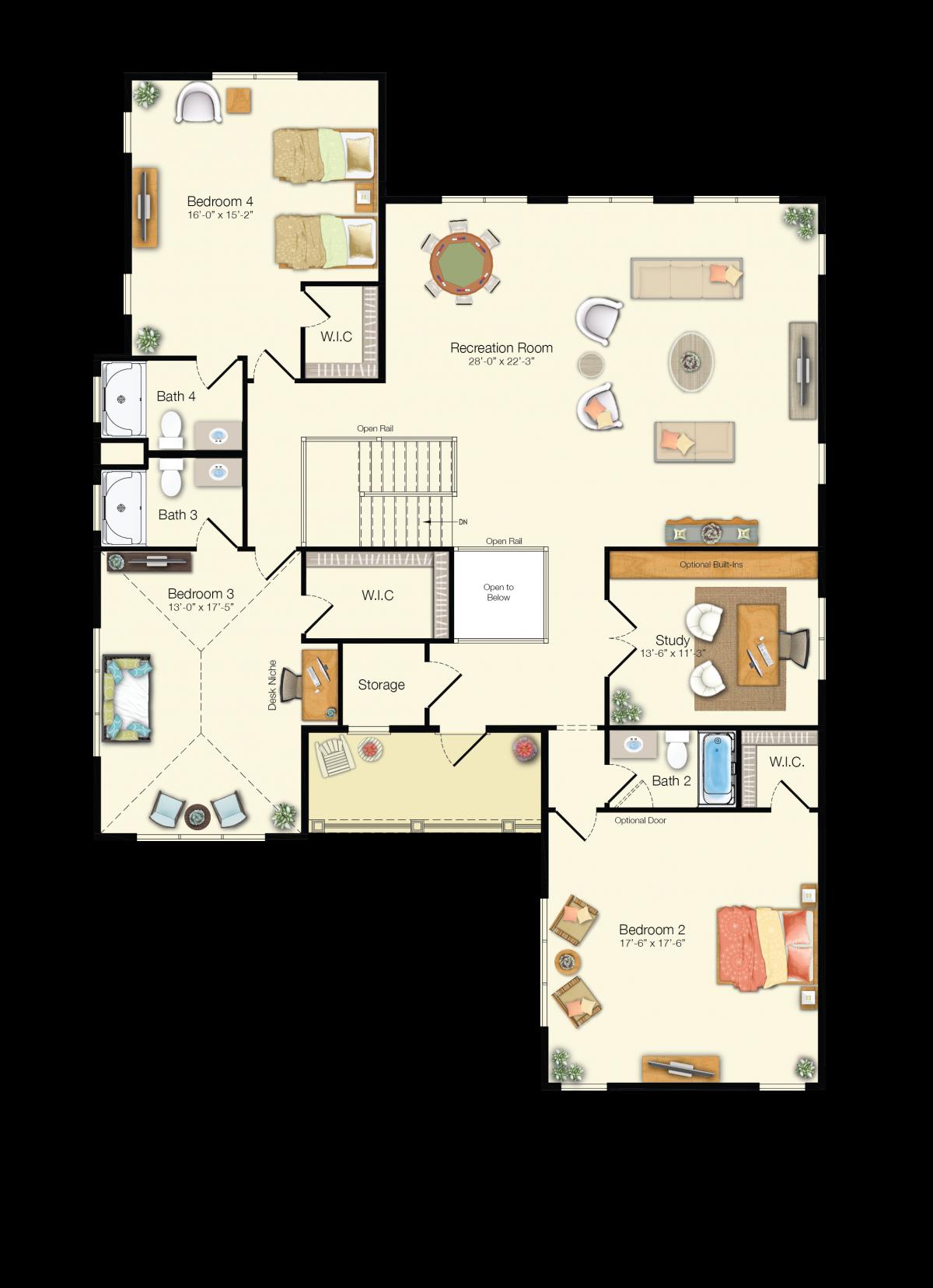 The Kiawah - Second Floor