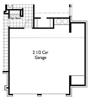 Optional 2.5 Car Garage
