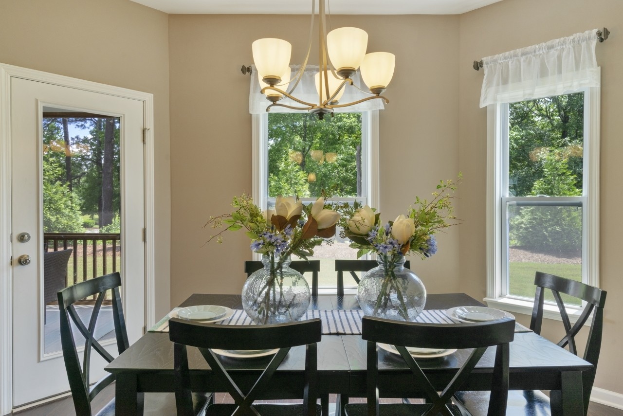 The Wilmington, Model Home, Dining Area, Casual Dining, Clayton NC, New Homes in Clayton NC, Bris...
