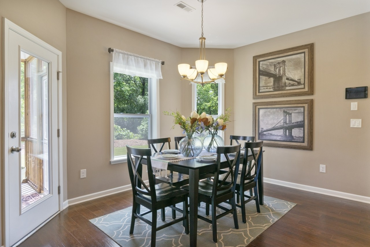 The Wilmington, Model Home, Clayton NC, New Homes in Clayton NC, Dining Area, Casual Dining, Bay ...