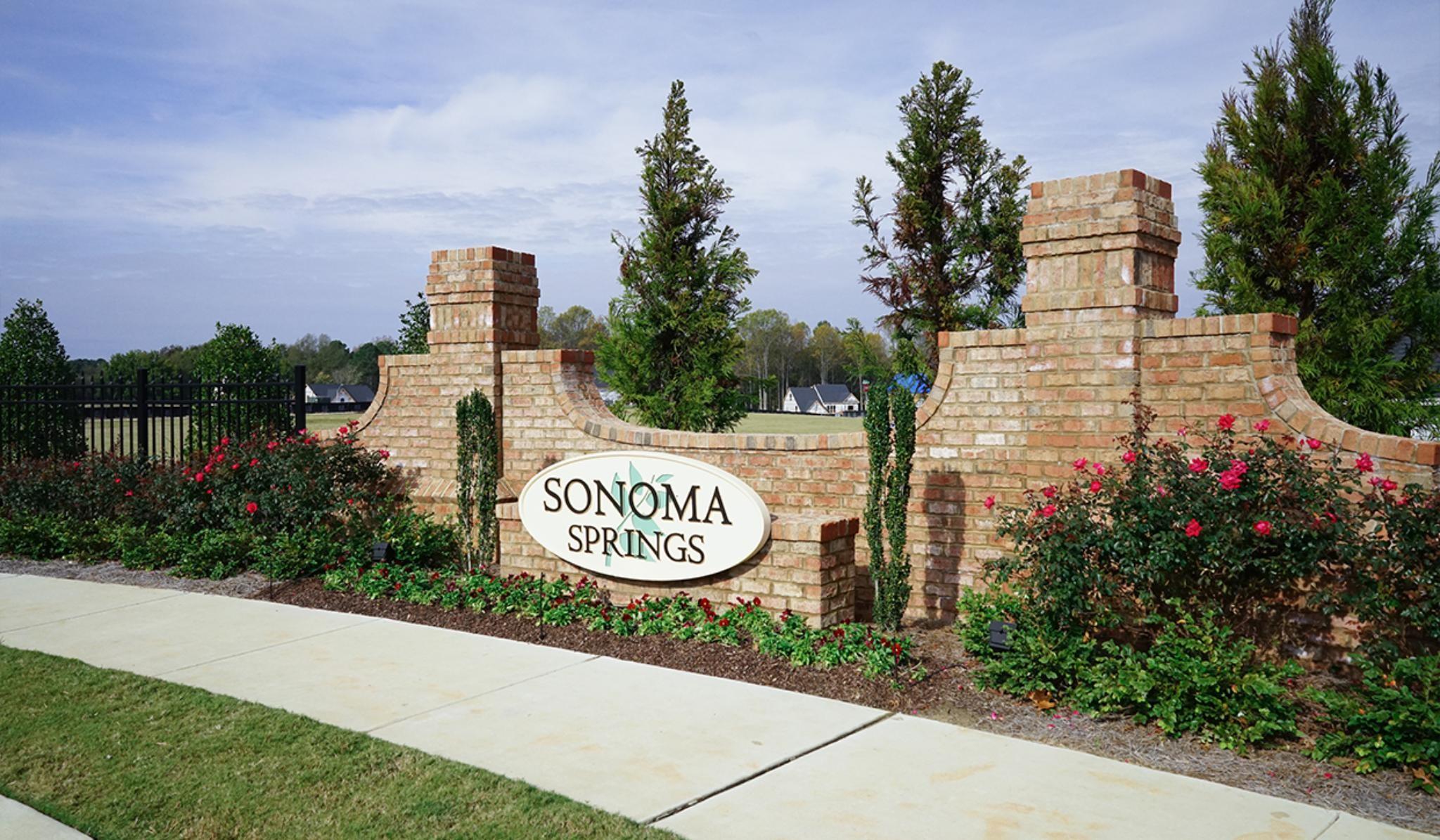 Sonoma Springs Community Entrance in Fuquay-Varina