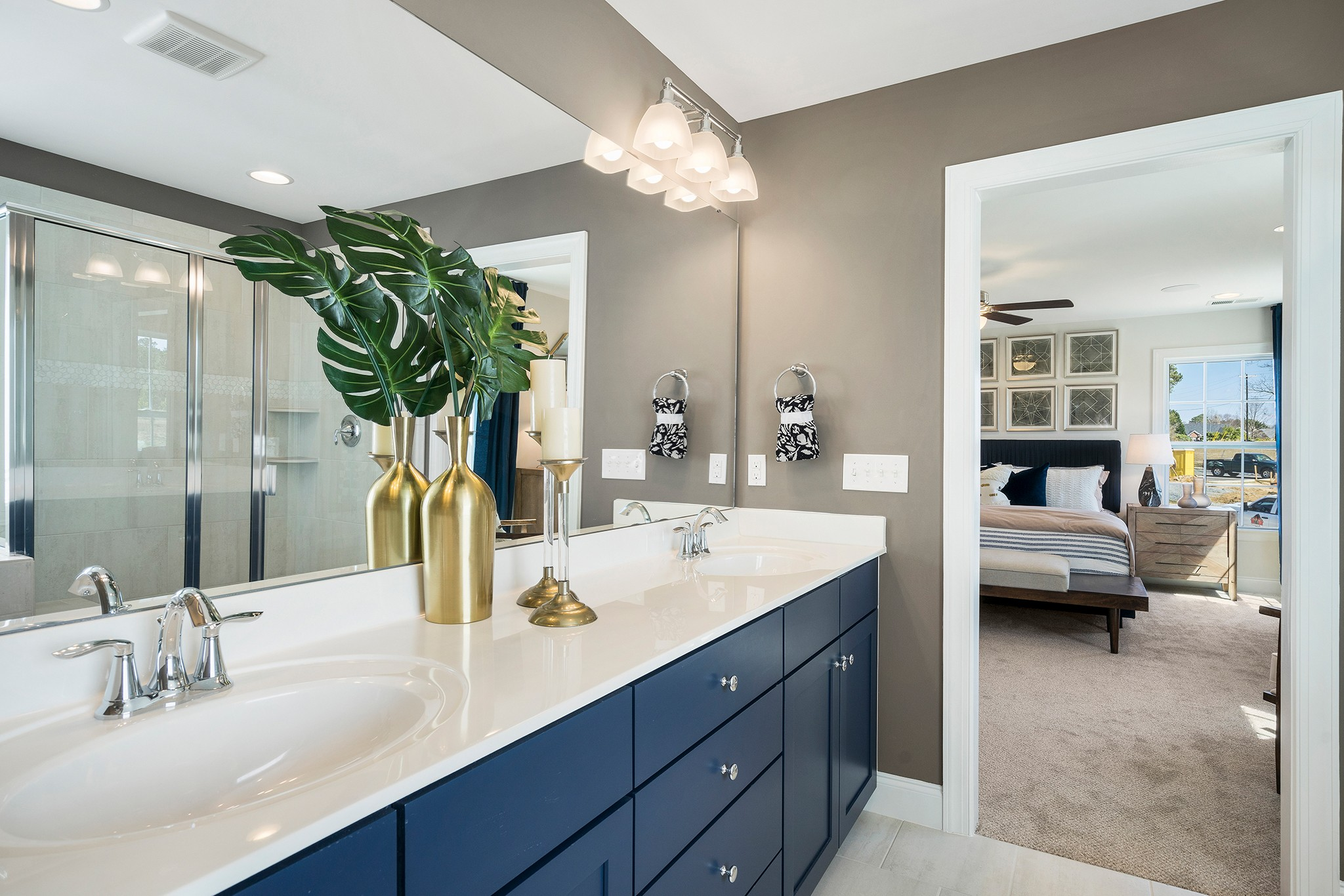 Royal Oaks a Division of Mattamy Homes, Holland Station, Fuquay-Varina, Owner's Bathroom, Home De...