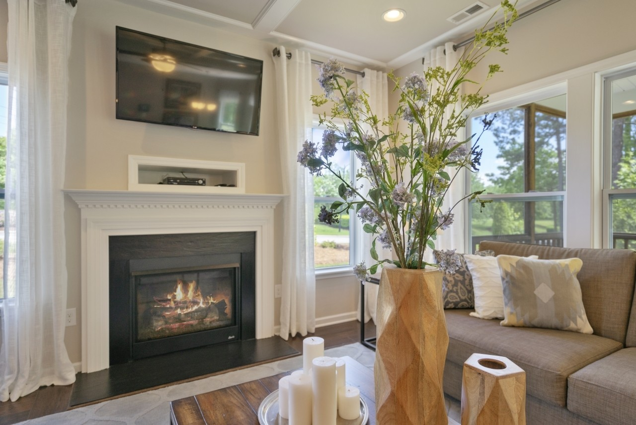 The Wilmington, Model Home, Bristol, Clayton NC, New Homes in Clayton NC, Living Area, Great Room...